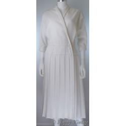 BHS White Ladies 1980's Dress