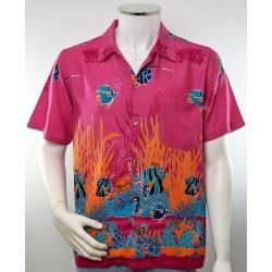 Mens Cerise Hawaiian Shirt