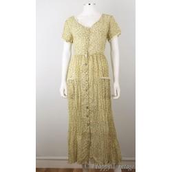 1980 Flower Maxi Dress Size 16