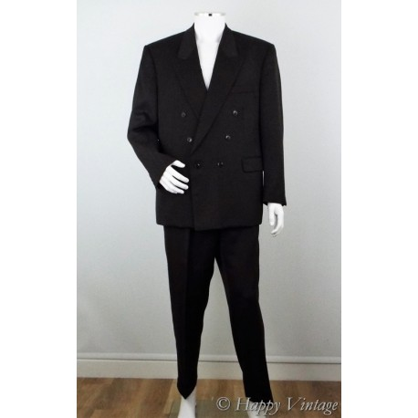 1980's Double Breasted Sergio Rossi Mens Suit Size