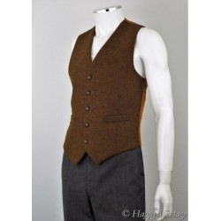 Vintage St Michael Brown Wool Waistcoat
