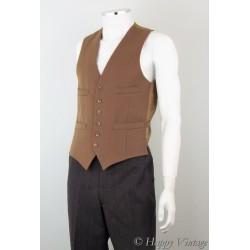 Vintage Dunn & Co Fawn Colour Waistcoat Size 38