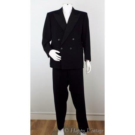 Vintage Mens Black Dinner Suit