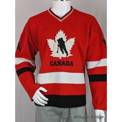 Vintage Red Canadian Ice Hockey Shirt