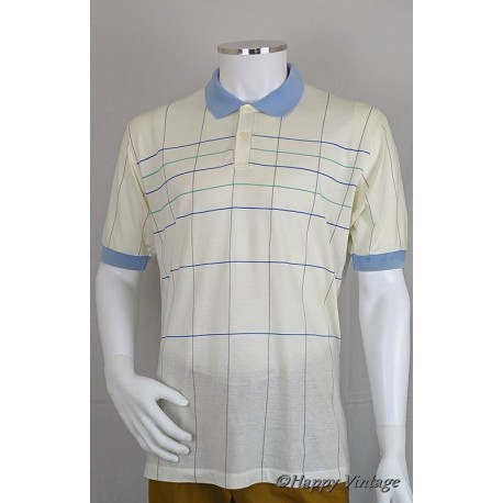 St Michaels White and Blue Polo Shirt