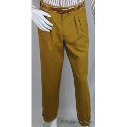 1980's Tan Pleat Men's Trousers