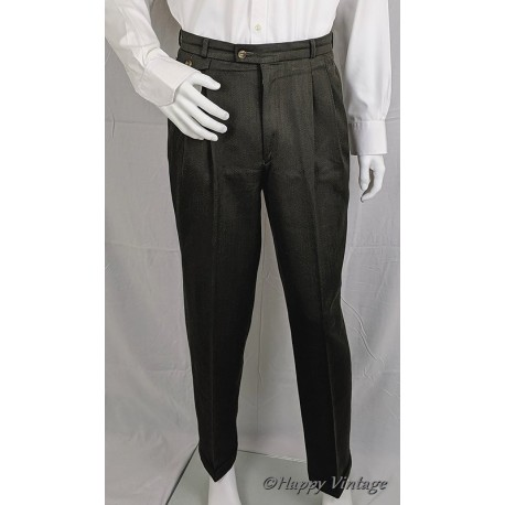 Littlewoods Mens Pleated Olive Suit Trousers