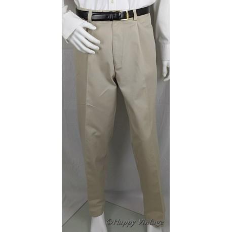 Light Khaki Mens Single Pleat Trouser